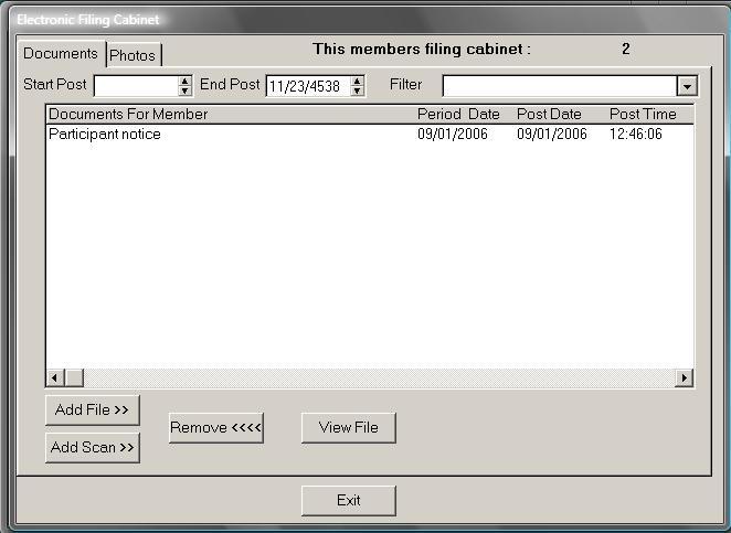 Union Computer Services E File Cabinet